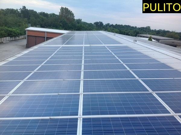 Fotovoltaico manutenzione, pulizia. Momo, Novara.