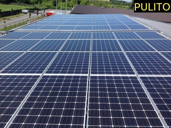 Fotovoltaico manutenzione, pulizia. Vercelli.