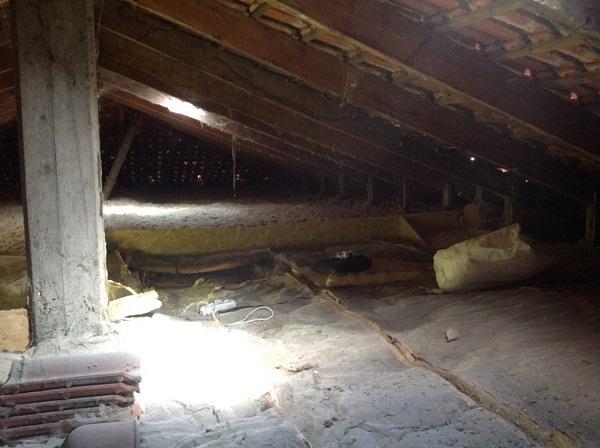 Isolamento tetto. Insufflaggio tetto. Casale Monferrato, Alessandria.