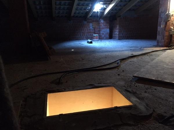 Isolamento tetto. Insufflaggio tetto. Sale, Alessandria.