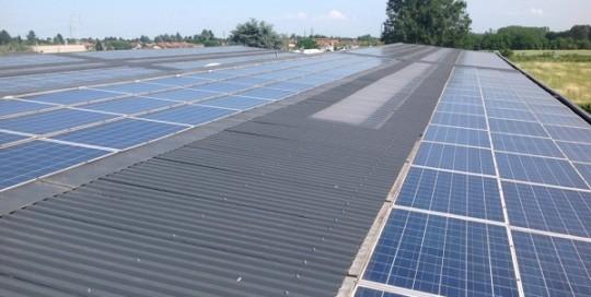 Fotovoltaico manutenzione, pulizia. Turbigo, Milano.